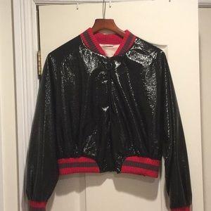 Patten leather jacket